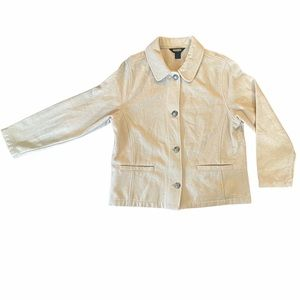 Woolrich Beige Short Style Jacket with Buttons
